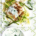 New Nordic Haddock on Shredded Vegetables with Almond Gremolata