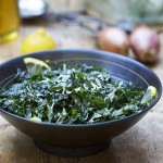 RAW KALE SALAD with HONEY LEMON and PARMESAN
