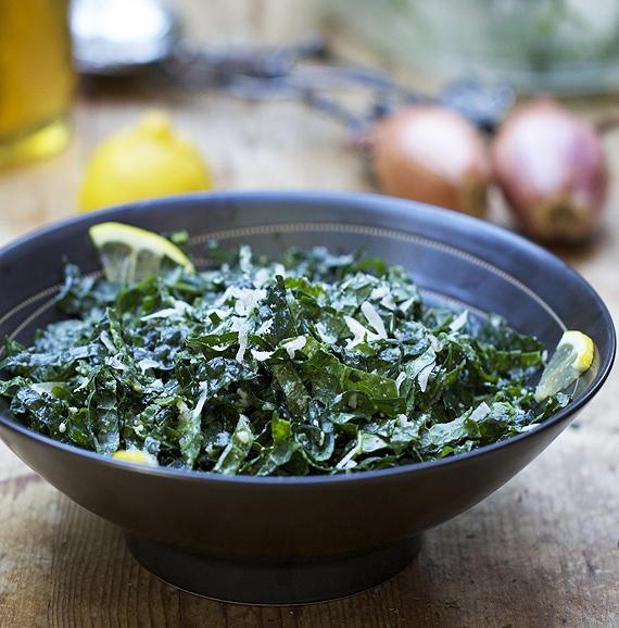 healthy raw kale salad