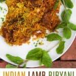 indian lamb biryani pin