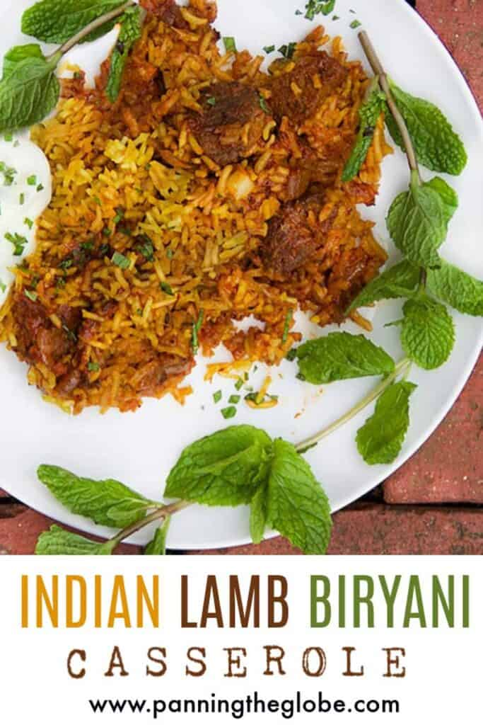 indian lamb biryani pin