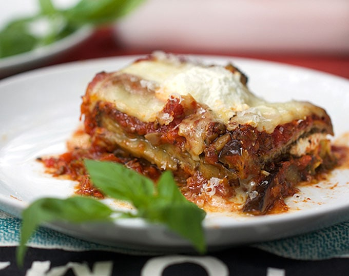No Noodle Eggplant Lasagna on a plate