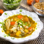 Jamaican Curried Chicken Stew with Rum and Mango by Panning The Globe