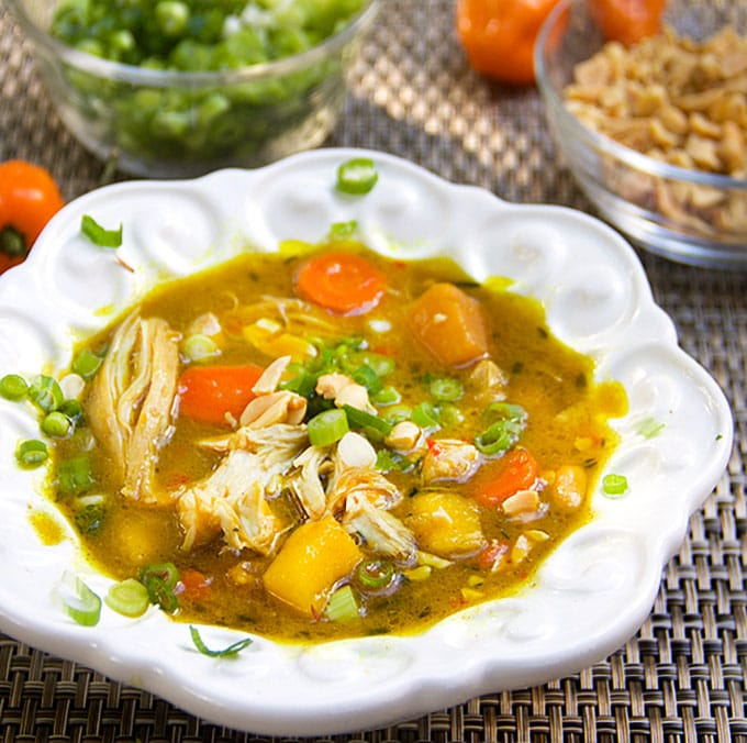 Jamaican curried chicken stew panning the globe for Jamaican fish soup recipe
