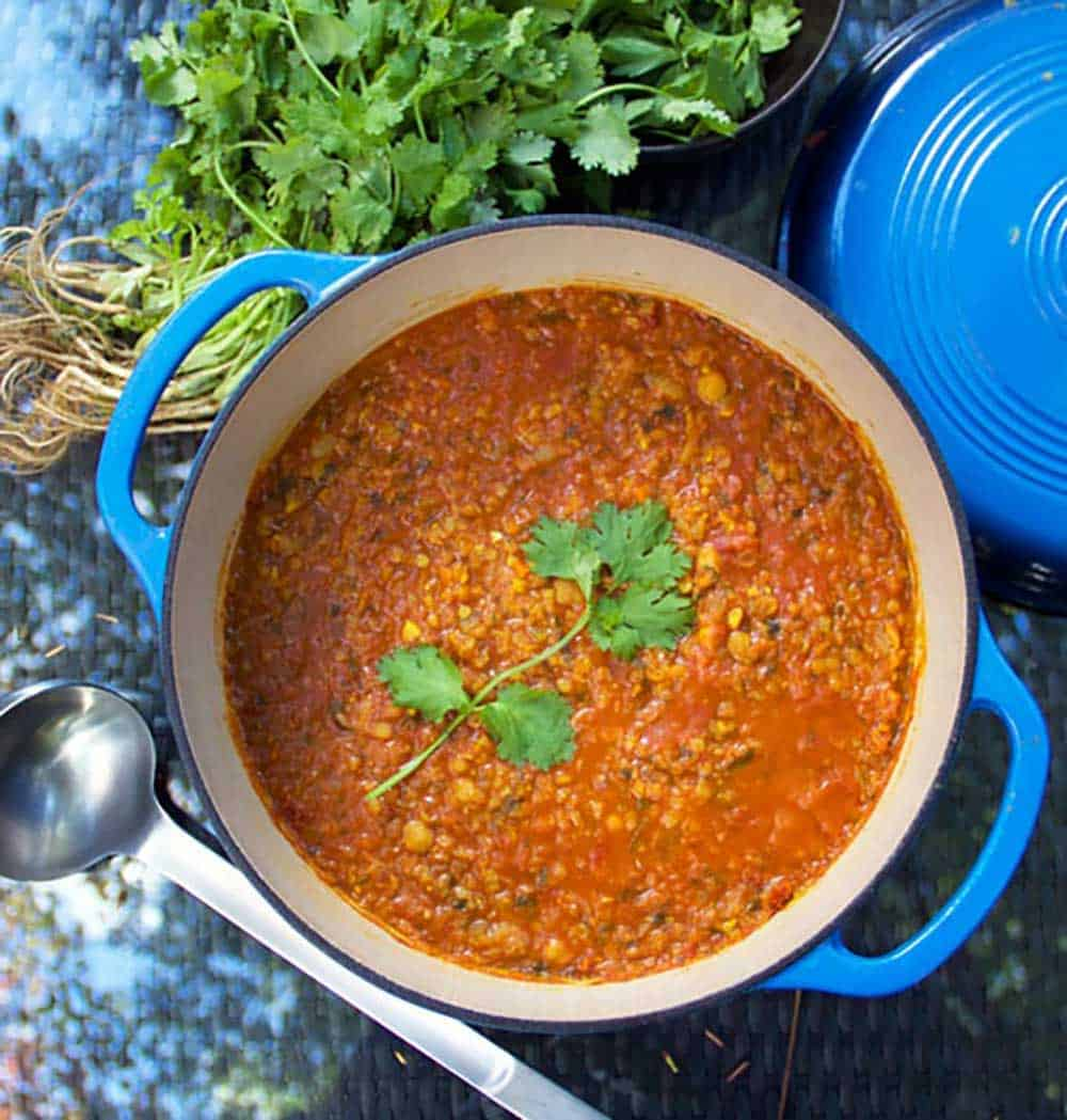 Moroccan Lentil Soup Harira Vegetarian Red Lentil Soup With Chickpeas