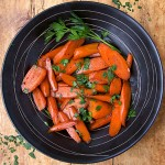 Carrots Cooked In Wine: sautéed in garlicky olive oil, steamed in Marsala wine, surprisingly simple and delicious.