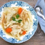 Turkey Kreplach Soup: delicious soup with homemade dumplings by Panning The Globe