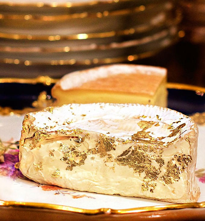 how to gold leaf cheese