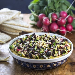 recipe for hot layered hummus from Istanbul
