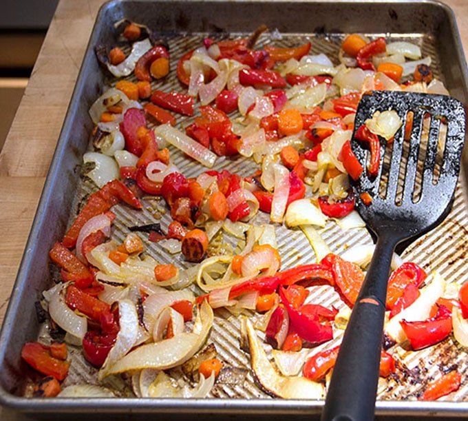 cacciatore roasted vegetables