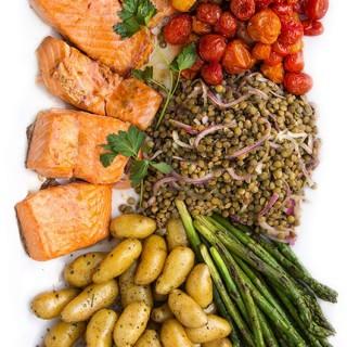 Fusion Salmon Niçoise Salad