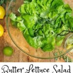 Butter lettuce salad pin