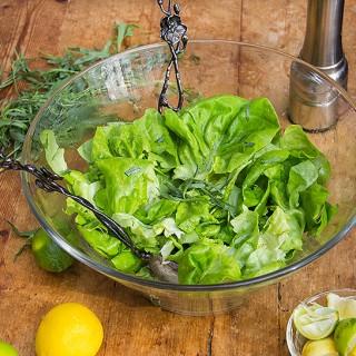 butter lettuce salad with citrus honey vinaigrette