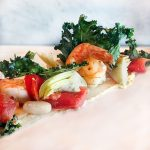 Canyon Ranch Healthy Shrimp Salad with White Beans and Kale