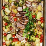 Spice-Crusted Pork Potatoes and Vegetables