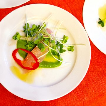 Mackerel Crudo by Chef Jeff Fournier