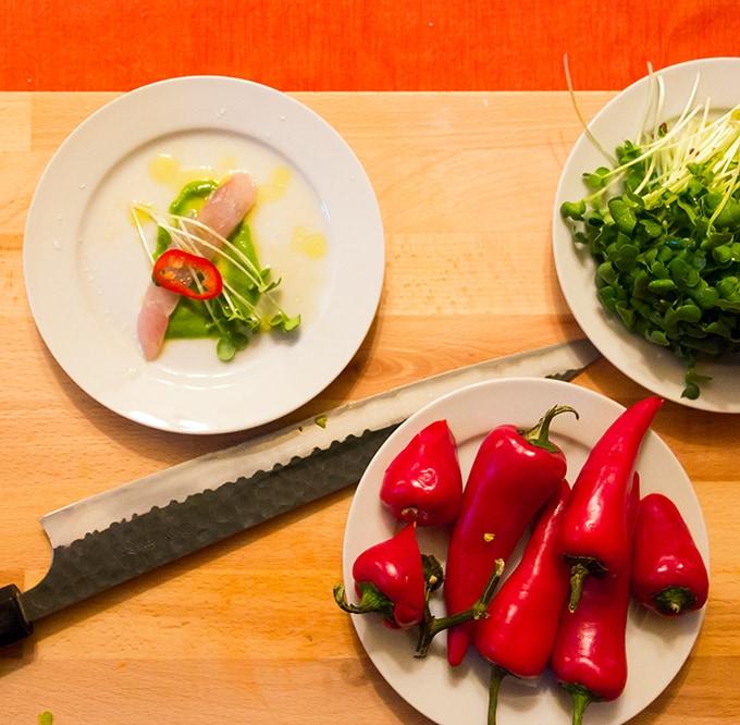 Mackerel Crudo by Chef Jeff Fournier
