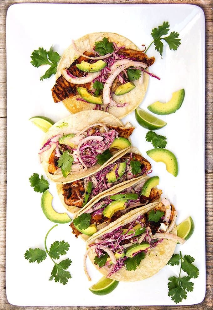 Blackened Fish Tacos • quick, gluten-free, delicious • Panning The Globe
