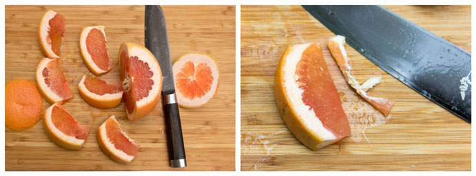 how to slice a grapefruit step two