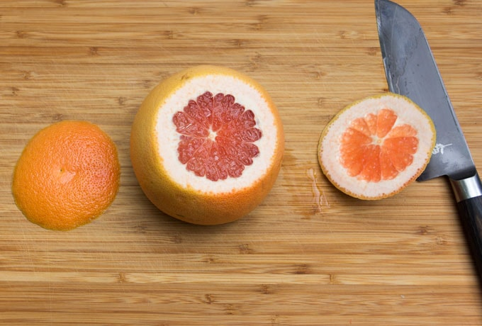 step-by-step instructions, how to section a grapefruit