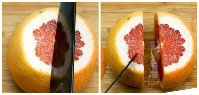 how to section a grapefruit step one