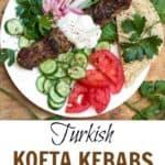 Grilled Kofta Kebabs Pin
