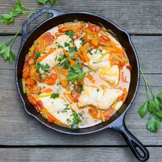 Neapolitan Fish in Crazy Water - a healthy weeknight dinner recipe from Panning the Globe