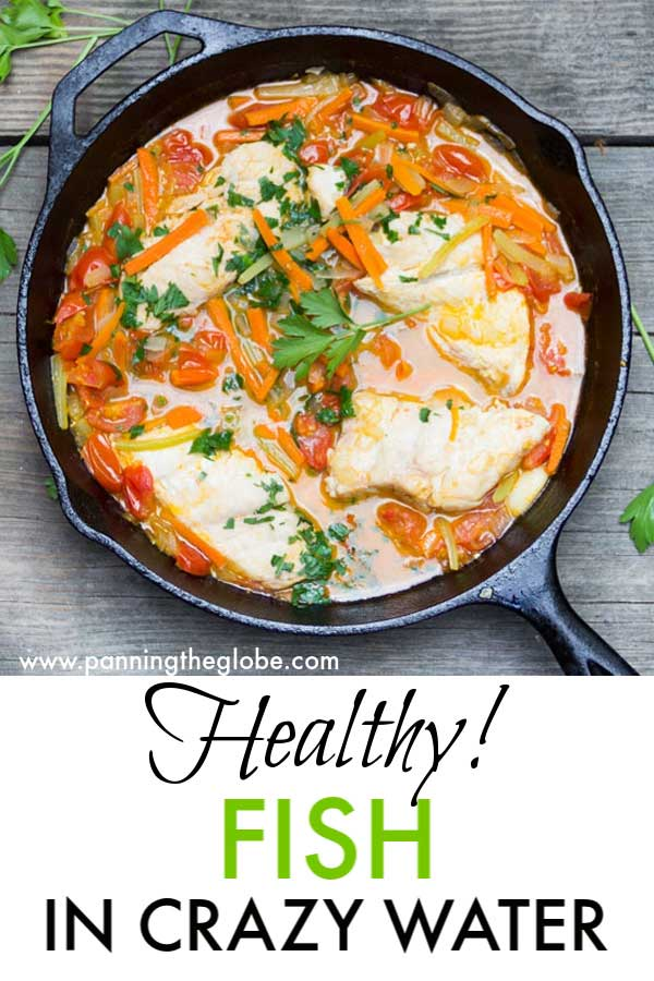 Fish In Crazy Water is a classic Neapolitan dish of fish, tomatoes and vegetables poached in water. A wonderfully simple, healthy and delicious recipe. #Italian #Fish #recipe #EasyRecipe #Italian #Fish #Recipe #EasyRecipe #HealthyRecipe