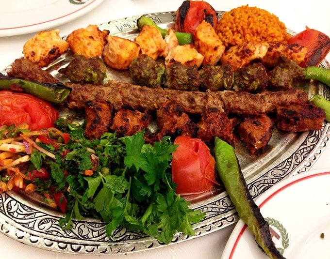 Shish-kebab in Istanbul