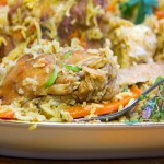 Chicken Plov: A casserole of chicken, rice, carrots, onions and delicious spices, from Uzbekistan