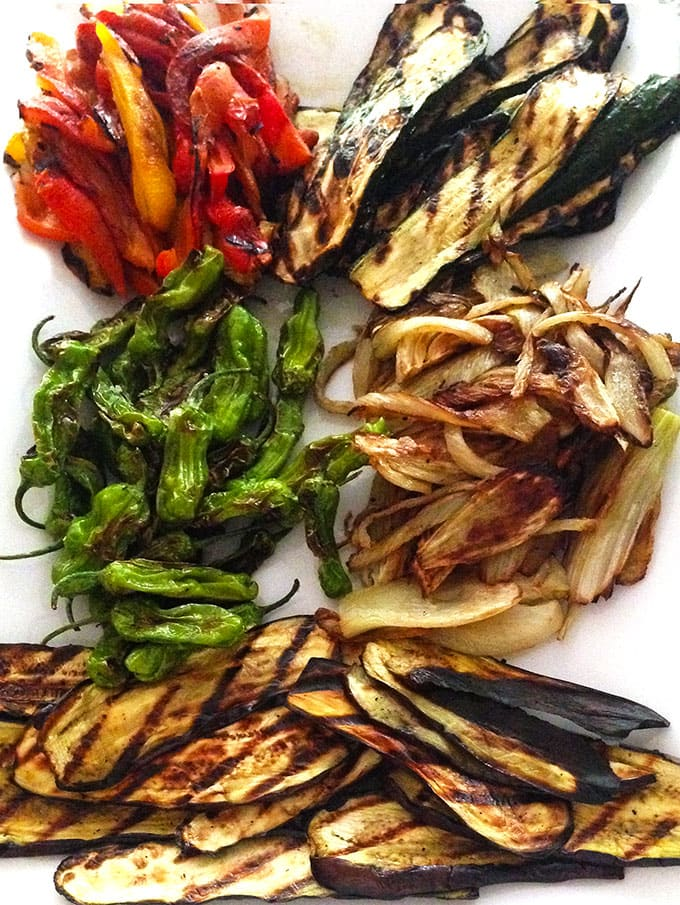 Italian-style grilled vegetable antipasto