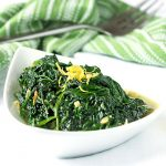 Sautéed Spinach and Garlic - a quick, delicious healthy side dish recipe with directions for using fresh or frozen spinach.