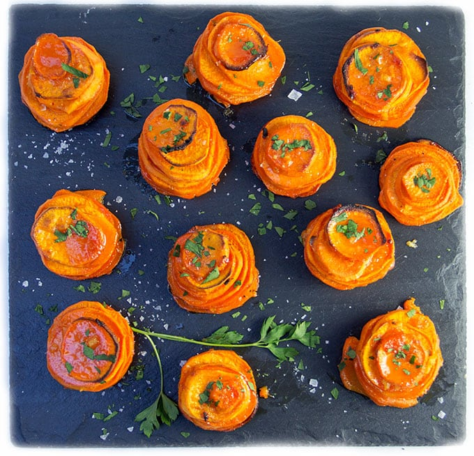 muffin tin Spicy Moroccan Sweet Potato Stacks - Panning The Globe