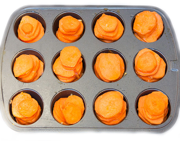 how to make Spicy Moroccan Sweet Potato Stacks - Panning The Globe