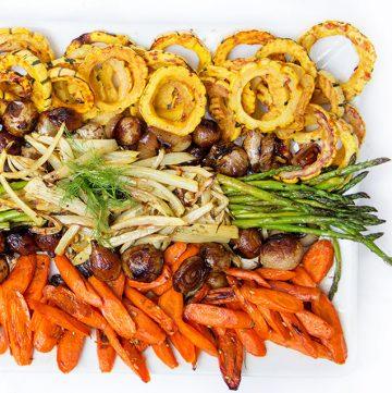 Roasted Vegetable Antipasto • Panning The Globe