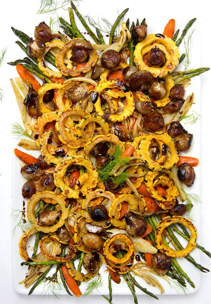 Roasted Vegetable Antipasto • Panning The Globe