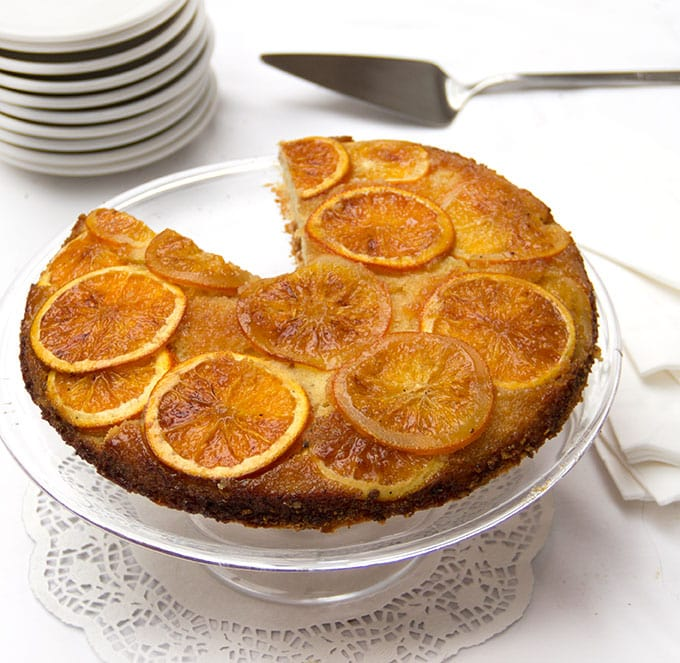 Orange Vanilla Upside Down Cake • The perfect holiday dessert • Panning The Globe