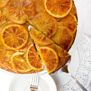 Orange Vanilla Upside Down Cake - The perfect holiday dessert - Panning The Globe