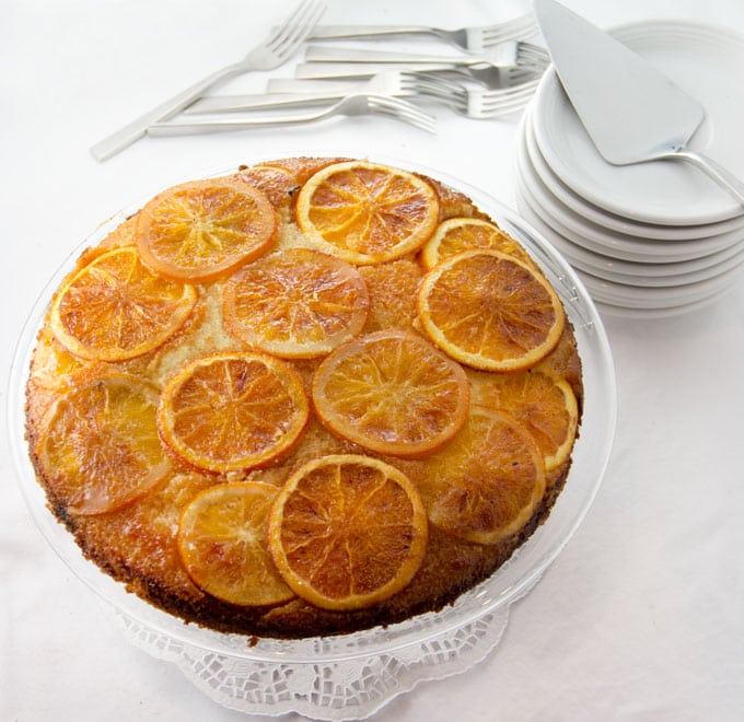 ORANGE VANILLA UPSIDE DOWN CAKE • Panning The Globe