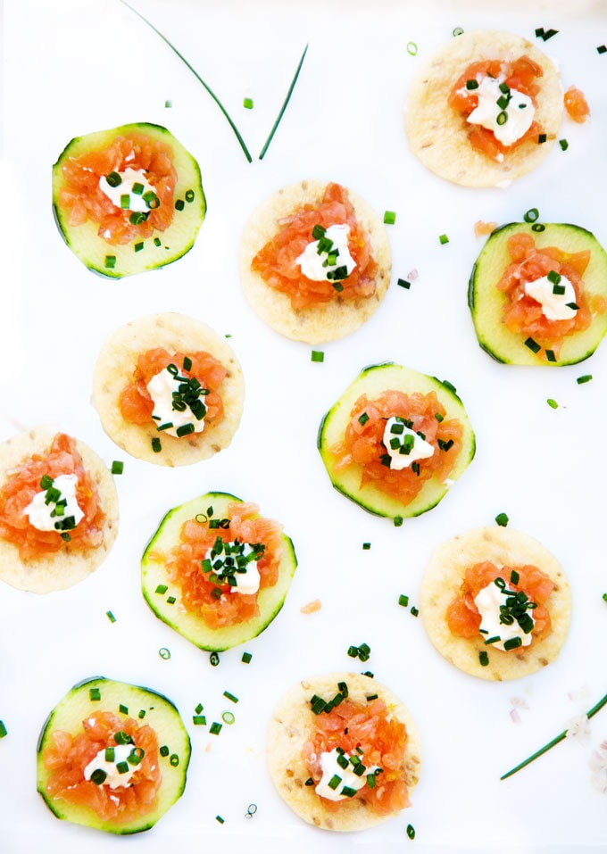 Smoked Salmon Tartare - an easy, elegant appetizer recipe from Panning The Globe