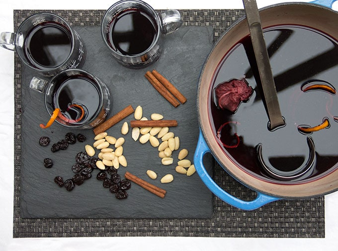 Swedish Glögg • delicious hot spiced mulled wine and spirits to warm up your holiday • Panning The Globe