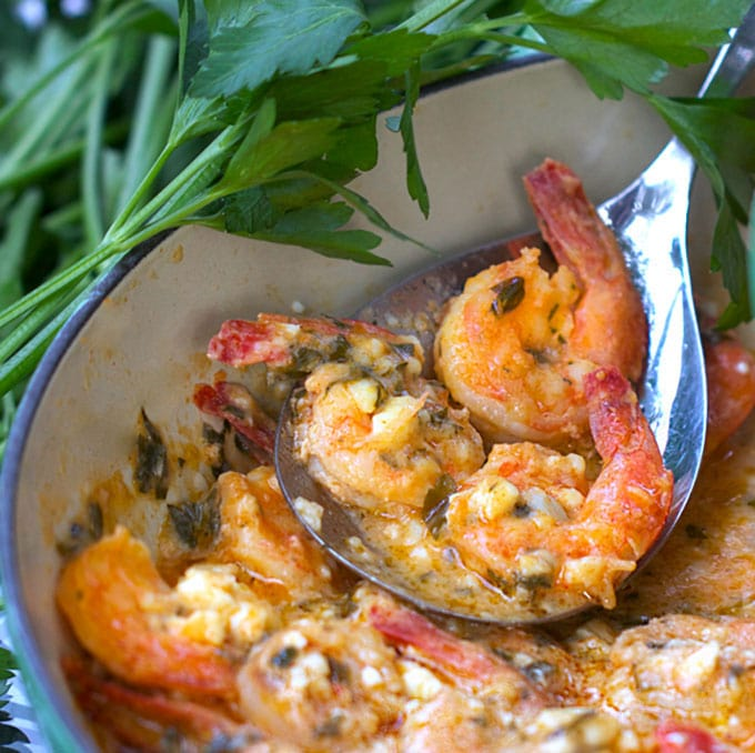 Panning The Globe's Top 10 Recipes of 2015: Greek-style Garlicky Shrimp with Feta