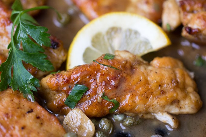 Here's a fantastic quick and easy chicken piccata recipe: tender boneless chicken in a luscious lemony sauce in 35 minutes. Easy enough for weeknights. Delicious enough for company.