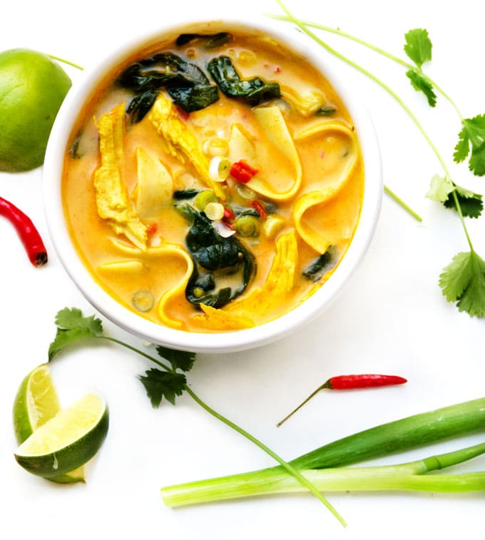 Coconut Curry Chicken Soup • Panning The Globe