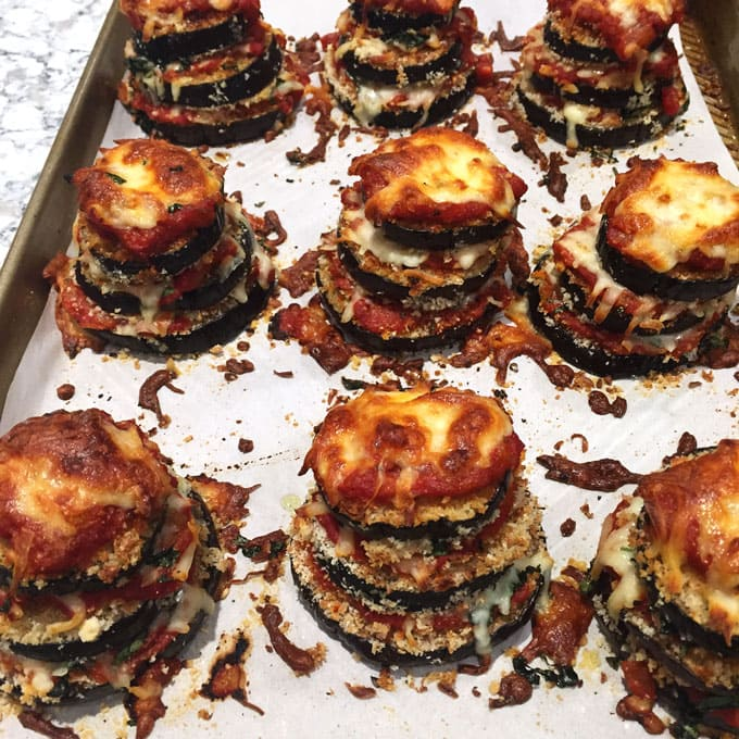 Eggplant Parmesan Stacks • Panning The Globe