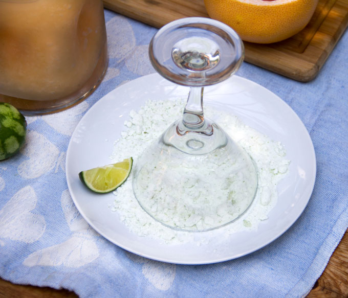 How to rim a glass for a margarita
