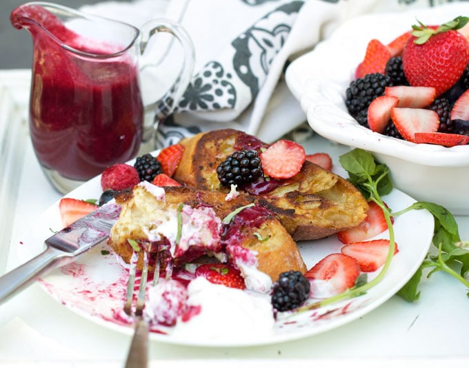 Pain Perdu with Berry Sauce and Fresh Berries - the perfect recipe for a special brunch