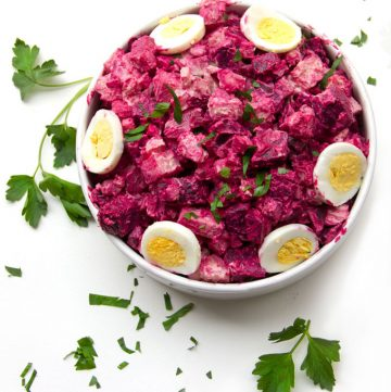 Rosolje: Estonian Beet and Potato Salad