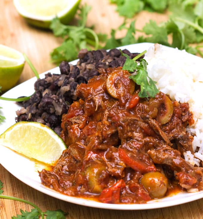 Slow Cooker Ropa Vieja Recipe: Cuba's famously delicious shredded beef stew with peppers