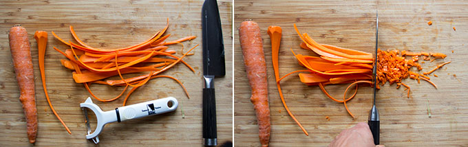 how to finely dice carrots